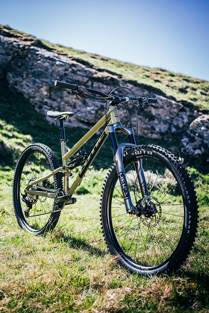 Cotic RocketMAX in Army Green, steel full suspension mountain bike, enduro, 29, uk made, british made, 853, longer lower slacker, Helm forks