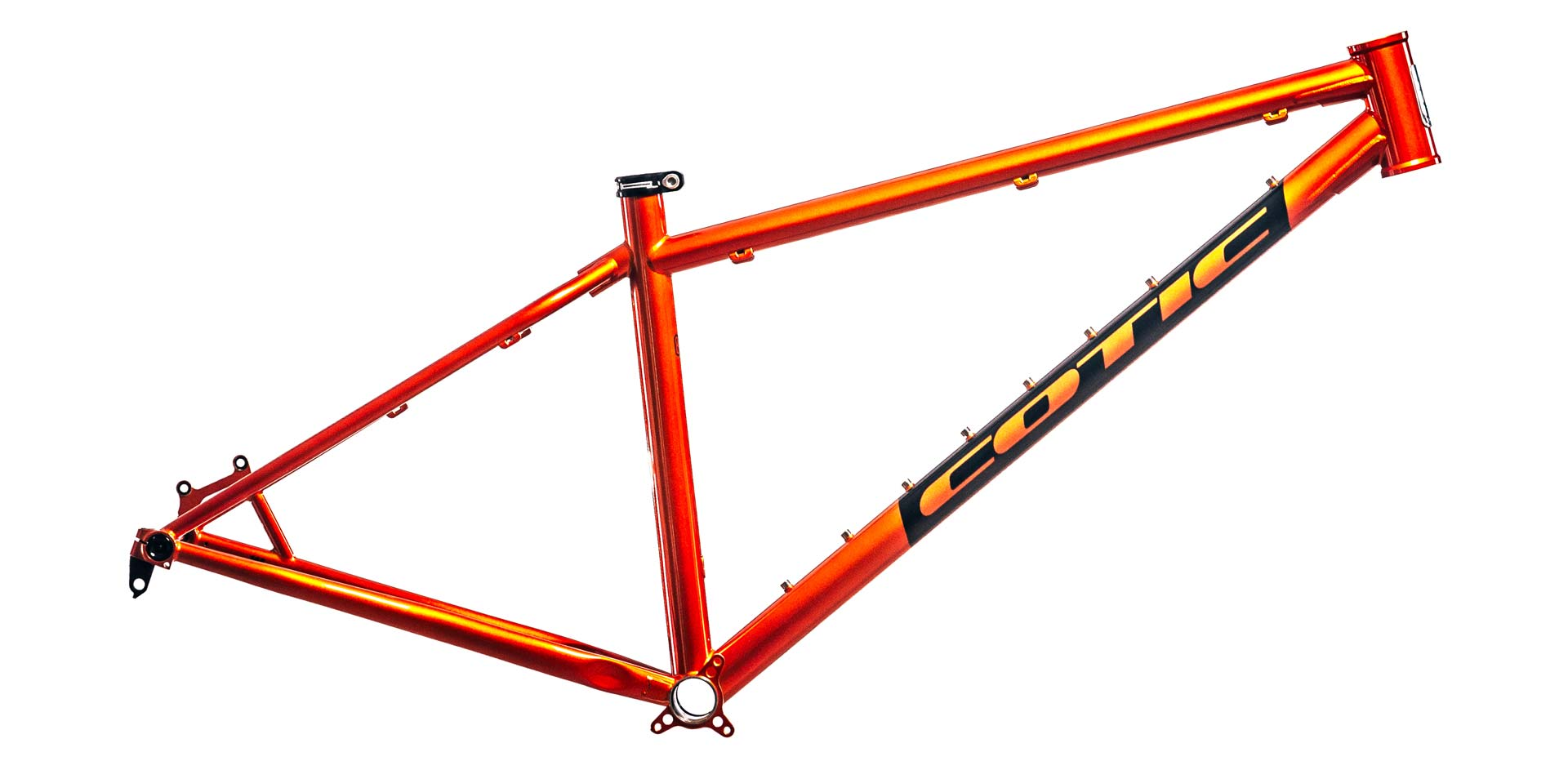 SolarisMAX in Supernova Orange, steel 853 hardtail, perfect for backpacking